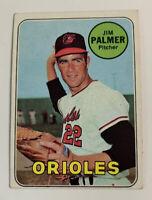 1969 Jim Palmer # 573 Baltimore Orioles Topps Baseball Card HOF