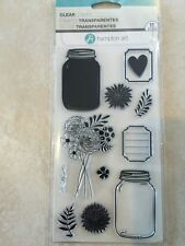Hampton Art ™ Clear Stamps, MASON JAR FLORALS SC0684 NEW