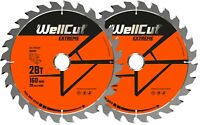 2 x WellCut Plunge Saw Blade 160mm x 28T x 20mm Suitable For Festool TS55 HK55