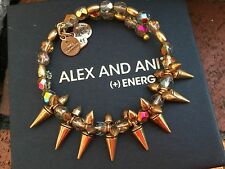 BOX & CARD ALEX and ANI VINTAGE 66 Flame ROCK and RAW GOLD Spike Beaded WRAP