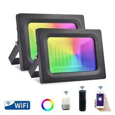 New listing Rgb Led Flood Lights Smart WiFi Outdoor Dimmable Color Changing Stage Light Us
