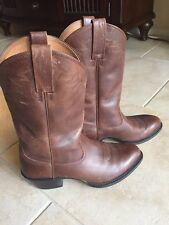 Ariat Western Cowboy Boots Mens 9.5 D Brown Pull On  Leather Excellent