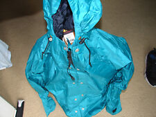 EUC REI Mens Green GORE-TEX Hooded Rain Wear Jacket Parka Size Large USA Made