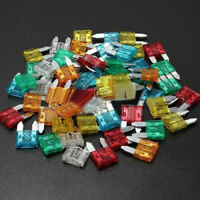 60stk Autosicherungen Set Sortiment Mini KFZ-Sicherungen 11mm Flachsicherungen