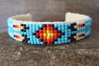 Navajo Indian Jewelry Hand Beaded Bracelet by Jackie Cleveland