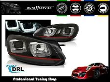NEUF FEUX AVANT PHARES LPVWP5 VW GOLF 6 2008 2009 2010 2011 201U-TYPE NOIR DRL