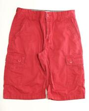 "Levi's Boy's Red Cargo Short 100% Cotton Size 16R X 21.5"" B1"