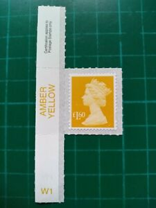 15/02/19 2019 Walsall M19L Machin SBP2u £1.60 Amber Yellow colour Tab single