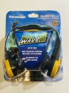 Panasonic RF-SW150 Shock Wave AM FM Stereo Headphones Radio Vintage NEW