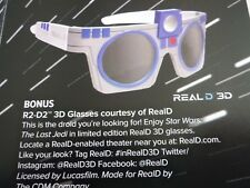 Loot crate DX r2-d2 star wars crate 3d glasses realD new sealed & poster code