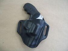 Taurus 905 9mm Revolver Leather 2 Slot Pancake Belt Holster CCW BLACK RH