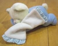 "Russ baby BLUE BEAR RATTLE 9"" Plush Stuffed Animal"