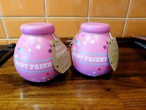 2 x New Pottery Pot Of Dreams Money Banks - Best Friend Version
