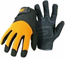 Cat Cat-012215 Large Padded Palm Utility Gloves With Mesh Back Adjustable Wrist