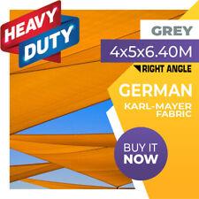 SHADE SAIL RIGHT ANGLE TRIANGLE 4 x 5 x 6.4m GREY 4m x 5m x 6.4m