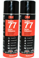 3M SUPER 77 TWIN PACK MULTI PURPOSE SPRAY ADHESIVE QUICK DRYING GLUE  PERMANENT