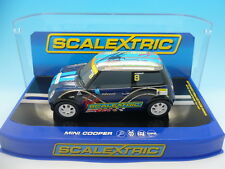 Scalextric C3428 Mini Cooper hand signed by Adrian Norman