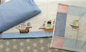 Laura Ashley Pirate Bedding Single Duvet Pillowcase Blue Fitted Sheet