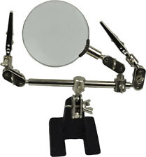 HELPING HAND TOOL MODELLING KIT MAGNIFYING GLASS 60mm With Alligator Clips  New
