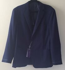 New PURPLE LABEL Ralph Lauren Mens Wool Westley Sport Coat 40R Navy MSRP $4,000