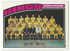 1976-77 TOPPS HOCKEY #139 KINGS TEAM CHECKLIST - EXCELLENT-