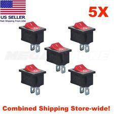 5pcs Spst Mini Rocker Switch 2 Pin On Off 125vac10a 250vac6a Kcd1 Usa Seller