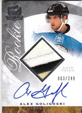 2008-09 UD The Cup Auto Patch #131 ALEX GOLIGOSKI RC Rookie Card 003/249 Coyotes