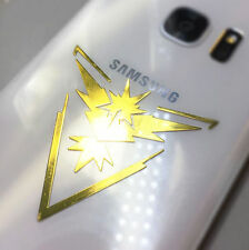 Pokemon Go Metallic Reflective Phone Case Laptop Sticker Decal Valor Team Yellow