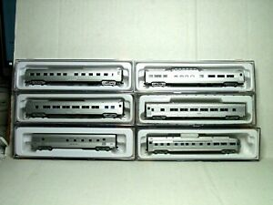 CON-COR N SCALE 6 CAR BUDD PASSENGER CAR SET NEW YORK CENTRAL 01-041427