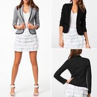 Women Ladies OL Slim Casual Business Blazer Suit Jacket Coat Outwear Clothes