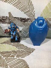 Halo Mega Bloks Covenant Drop Pod Metallic Series Blue Elite Minor Figure