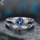 Band Ring Rhinestone Finger Ring Party Wedding Jewelry Women Engagement Rings Ca