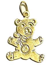 14K Yellow Gold Sitting Bear Charm Pendant