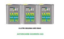 6 LITRI OLIO MOTORE SELENIA WR 5W-40 ORIGINALE PETRONAS ITALIA