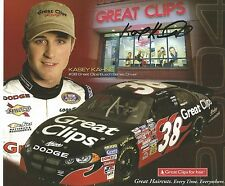 NASCARS KASEY KAHNE SIGNED AUTOGRAPHED PICTURE GREAT CLIPS MONSTER ENERGY