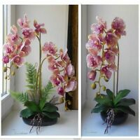 Orchid Silk Artificial Flower Floral Party Butterfly Orchid Branch For Women