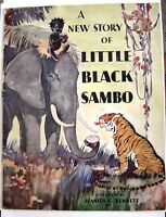 "1932 Children's Book ""A New Story of Little Black Sambo"" Fantastic Colored Pics*"