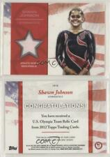 Shawn Johnson Topps Olympic WORN RELIC Gymnastics Gold Dancing With The Stars