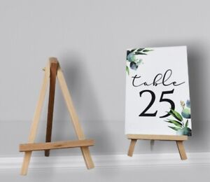 Wedding Table Number Holders - Rustic Mini Easels Table Decor - Photo Holder