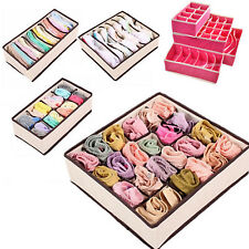 1/4pcs Drawer Closet Organizer Storage Box Container for Underwear Bra Socks