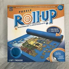 PUZZLE ROLL UP STORAGE MAT 1,500 JIGSAW PIECES 24 x 42 Blue Telescope Tube