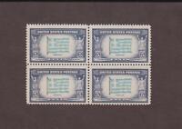 US,916A,MNH,BLOCK OF 4, GREECE,SCARCE DARK BLUE OVER LIGHT BLUE,1943