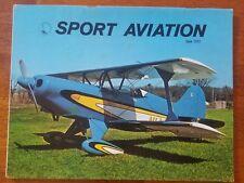 Sport Aviation Magazine June 1972 EAA Acrosport Acro-Sport biplane homebuilders