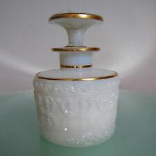 FLACON à PARFUM OPALINE XIX° BACCARAT ANTIQUE FRENCH MILK GLASS PERFUME BOTTLE