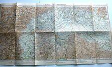 antica mappa ITALIA NORD OVEST MILANO TORINO AOSTA GENOVA PARMA BRESCIA 1931