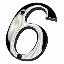 """4"""" Inch Chrome #6 House Numbers Home Address Wholesale Number Door Sign Hardware"""