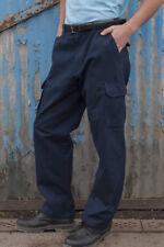 """RTY Workwear Pantaloni Cargo in Cotone Blu Scuro Medio (32""""/34) Girovita Regolare (31"""" gamba)"""
