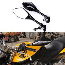Motorcycle LED Turn Signal Light Rearview Mirrors For Honda CB500 CB600F CB1000