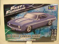 1969 YENKO CAMARO FAST AND FURIOUS REVELL 1:25 SCALE PLASTIC MODEL CAR KIT