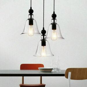 Glass Pendant Light Kitchen Lamp Vintage Ceiling Light Home Pendant Lighting